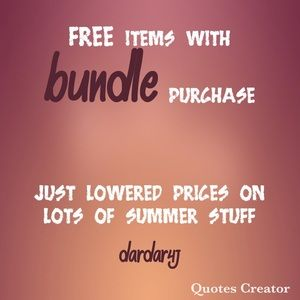 GREAT SALES! Add free items to any bundle
